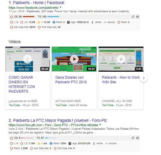 resultados búsqueda avanzada