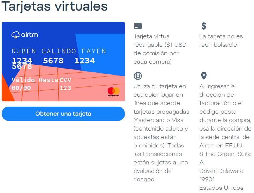 tarjeta virtual airtm